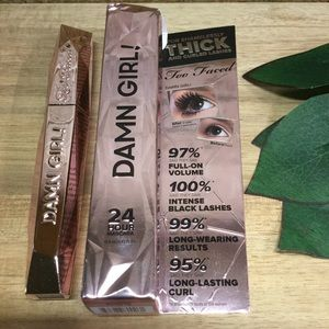 New Too Faced Damn Girl! 24-Hour Mascara - Black